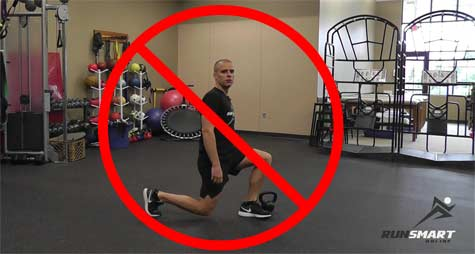 A Small Change to Lunges to Run Healthy