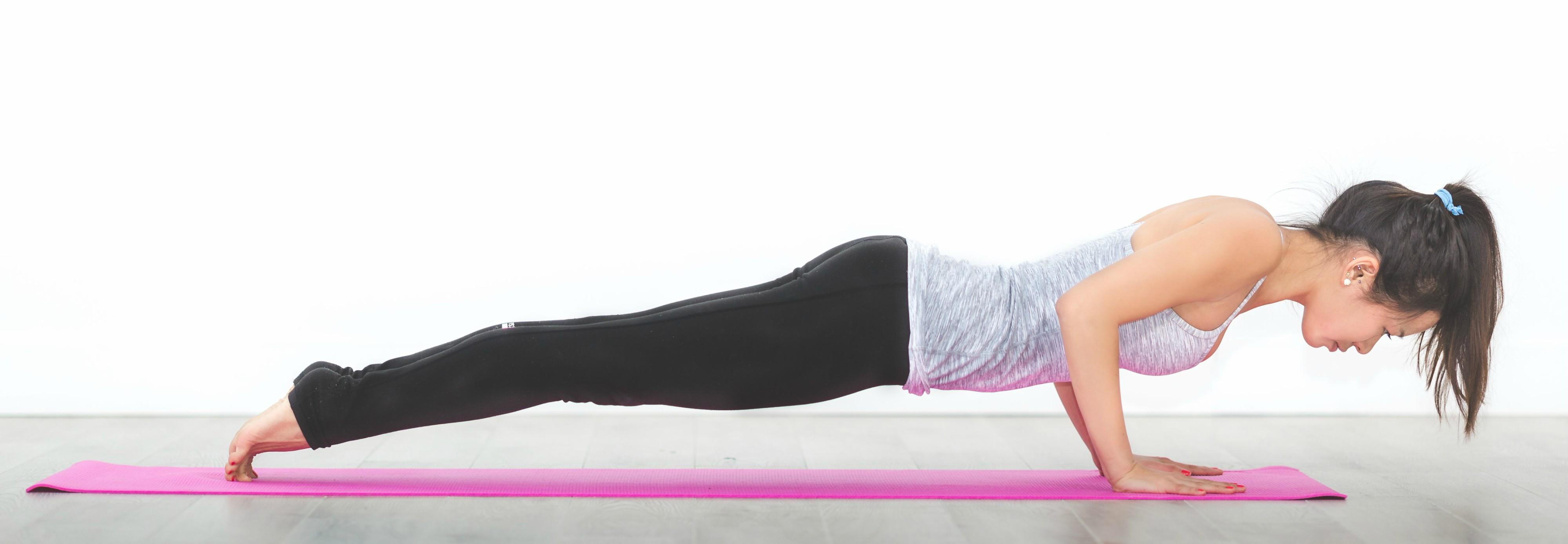 Image of yoga plank RunSmartOnline