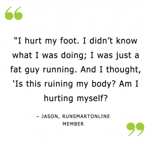 Image of RunSmartOnline Member Quote Jason