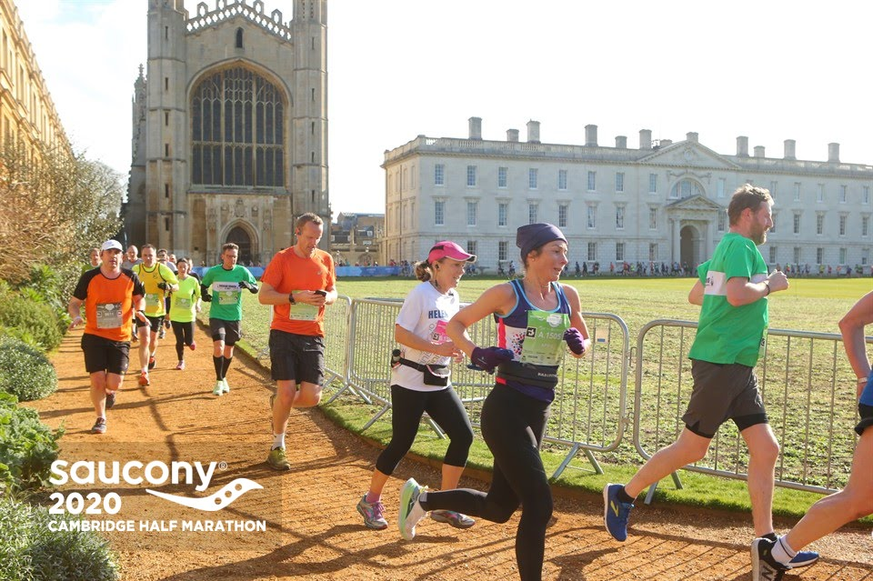Yesterday, I took over 10 minutes off my previous half at the Cambridge Half…tis me in the purple beanie hat!