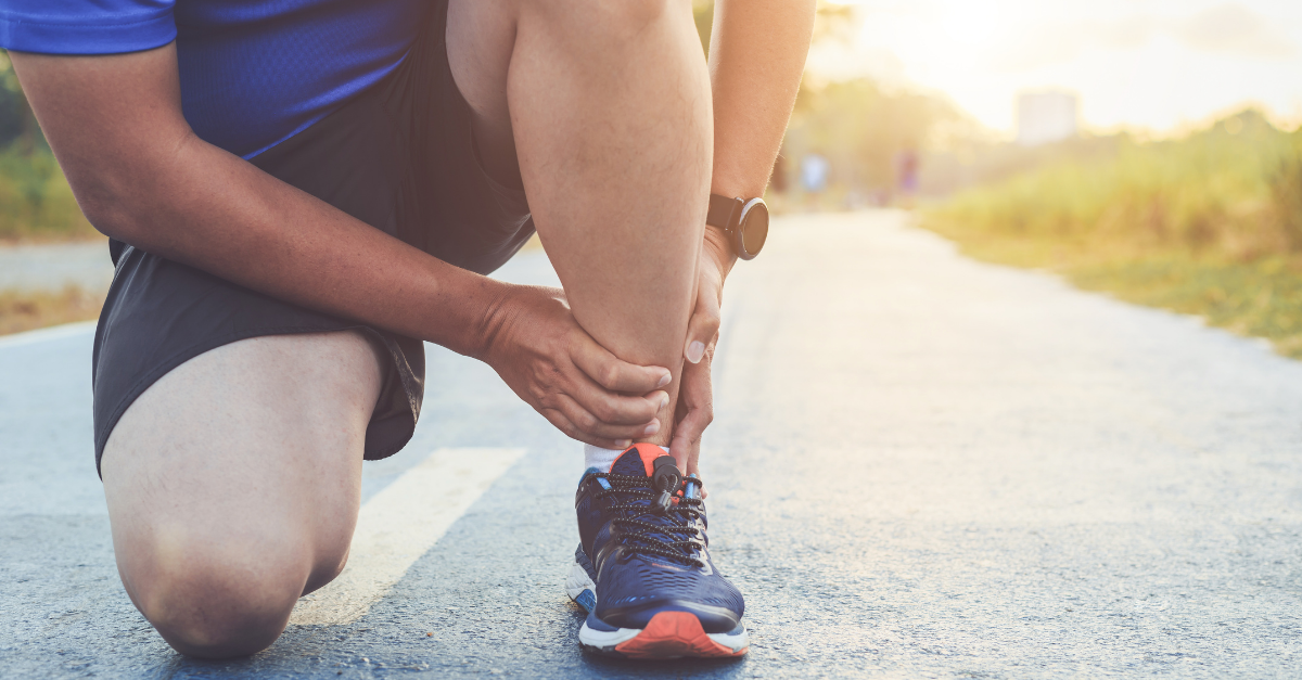 Runner with ankle achilles and calf pain