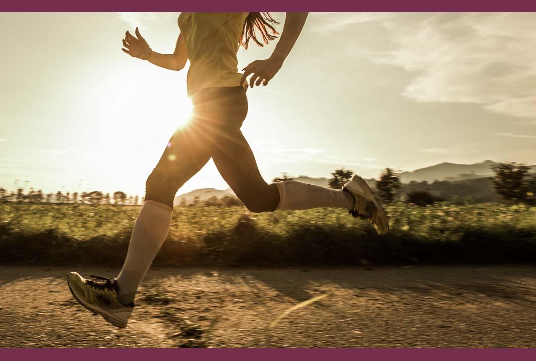 happy woman runner in neighborhoos