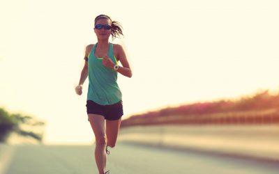woman, running, training, race
