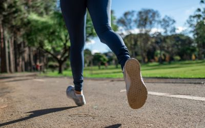 woman run form on pavement